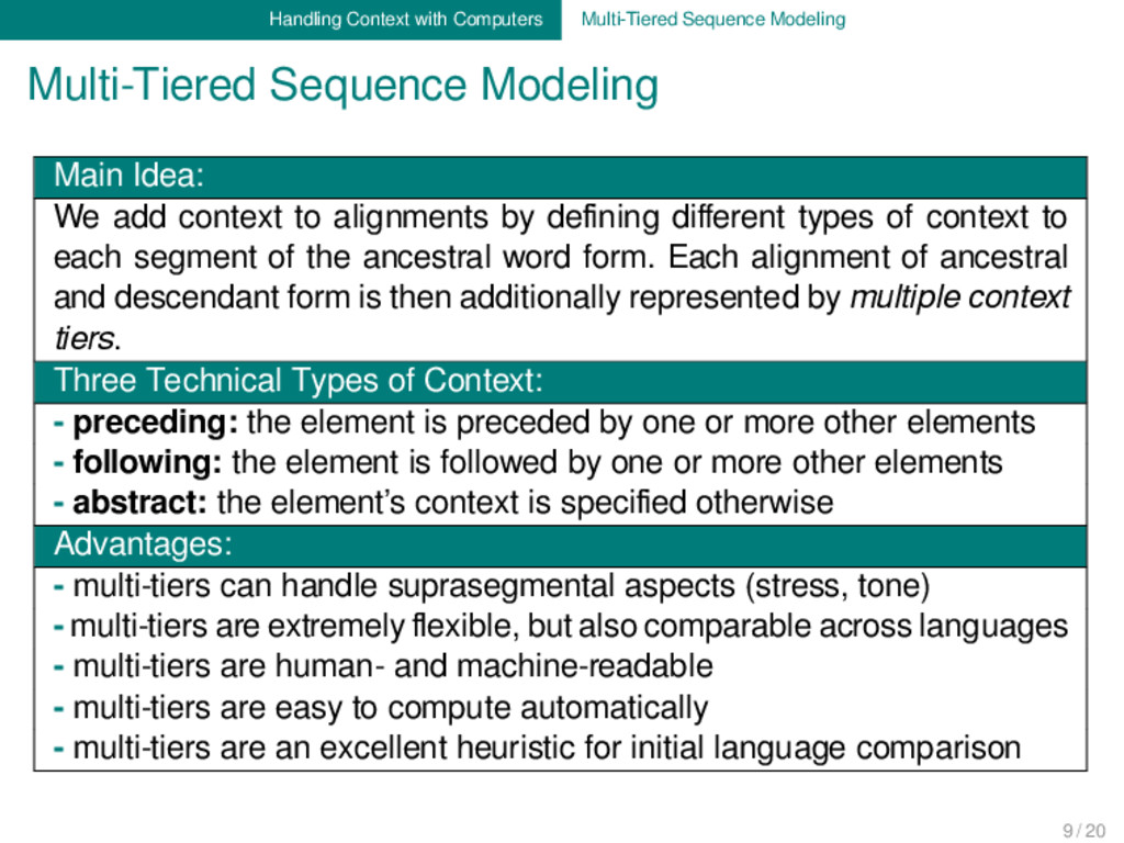 Handling Context with Computers Multi-Tiered Se...