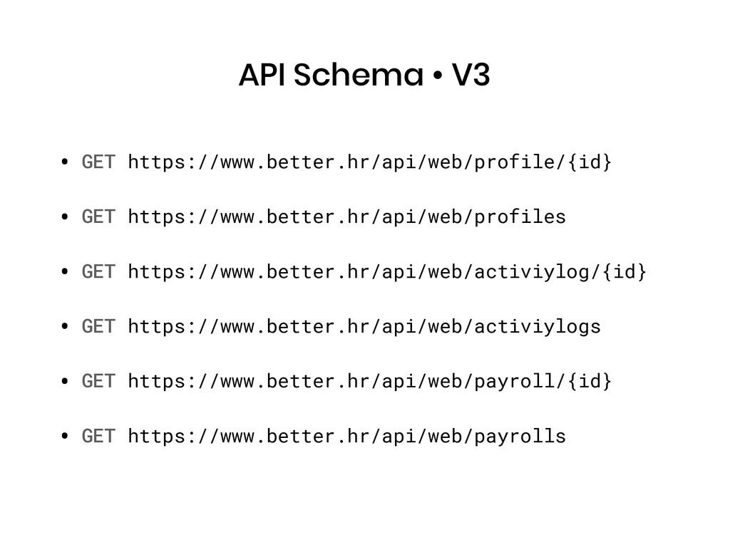API Schema • V3 • GET https://www.better.hr/api...