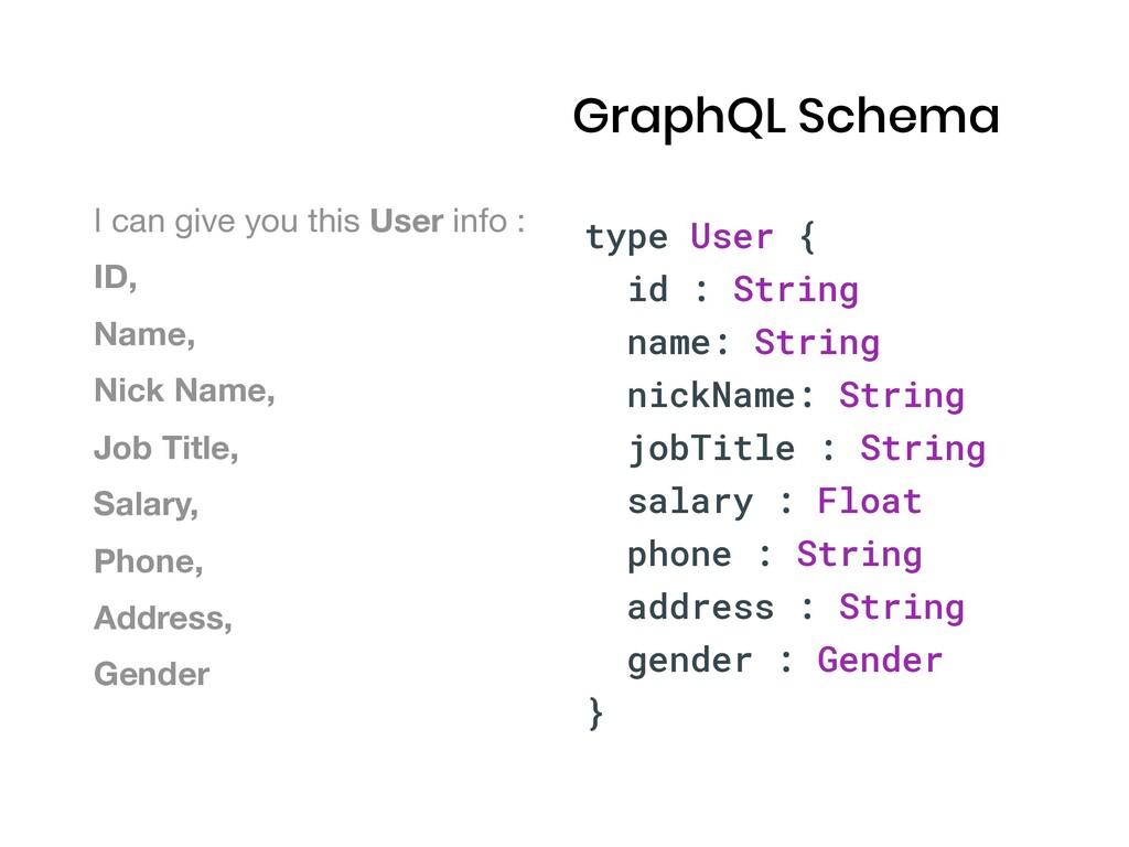 type User { id : String name: String nickName: ...
