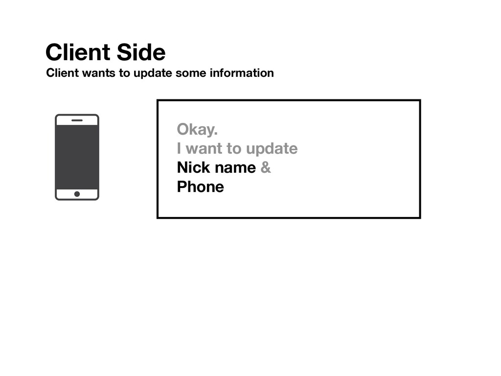 Okay. I want to update Nick name & Phone Client...