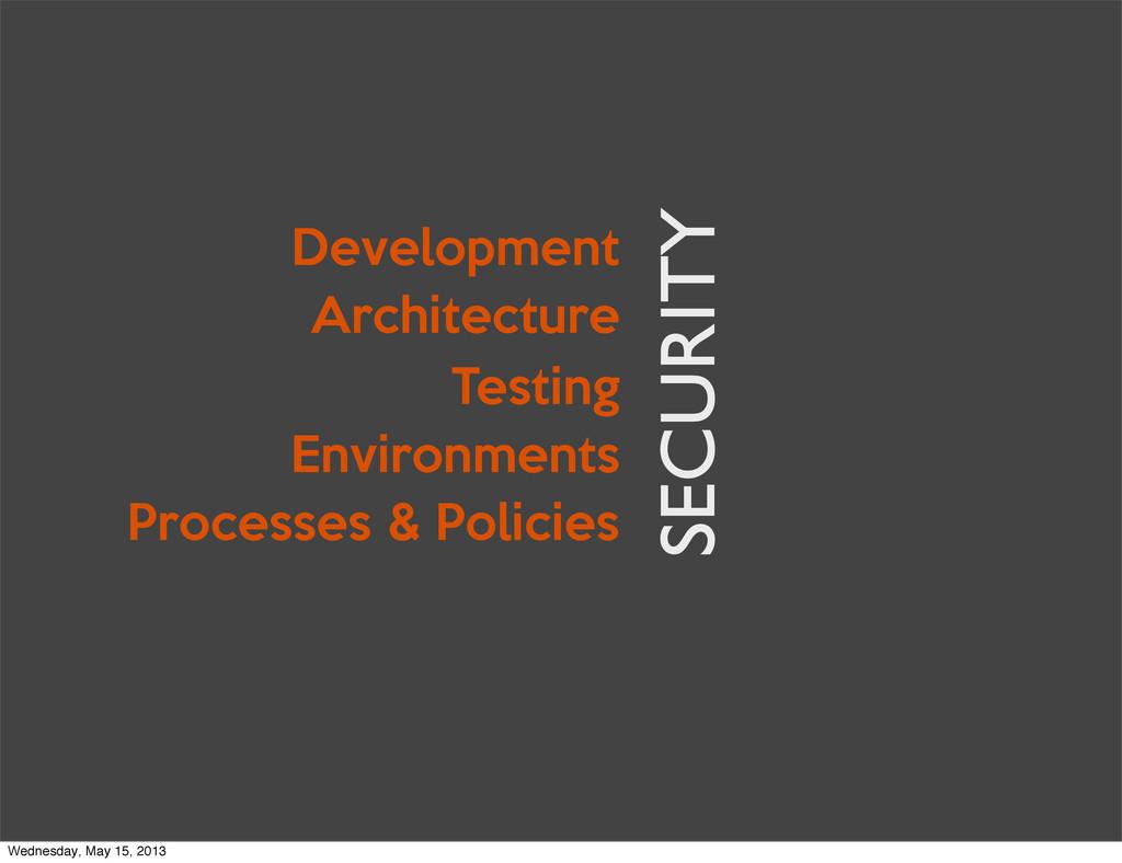Architecture Development Testing Environments P...