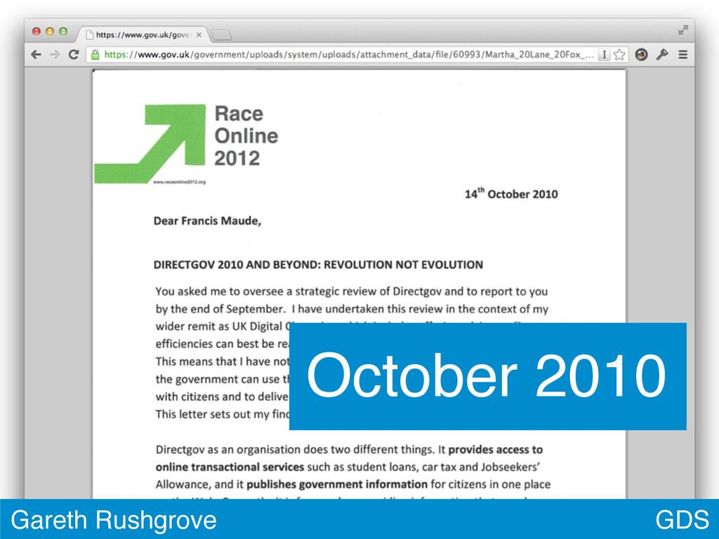 GDS Gareth Rushgrove October 2010