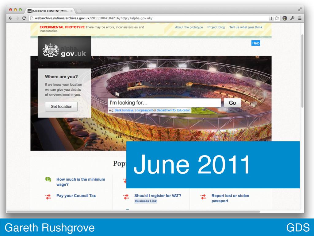 GDS Gareth Rushgrove June 2011