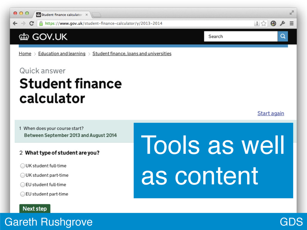 GDS Gareth Rushgrove Tools as well as content