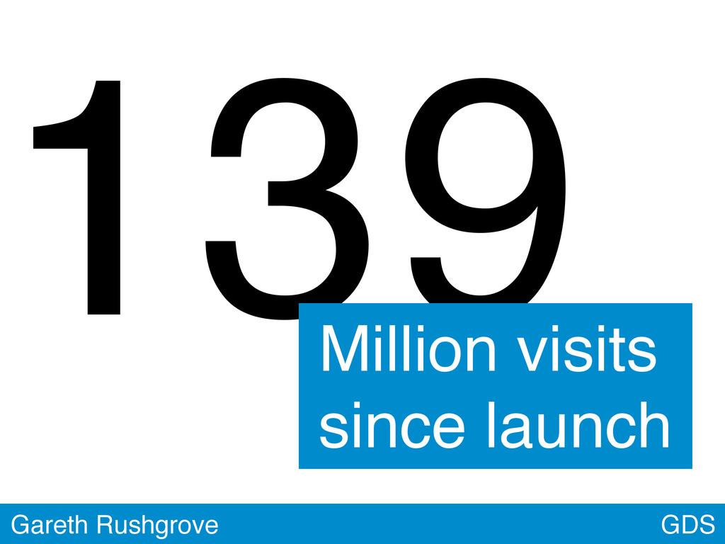 GDS Gareth Rushgrove 139 Million visits since l...