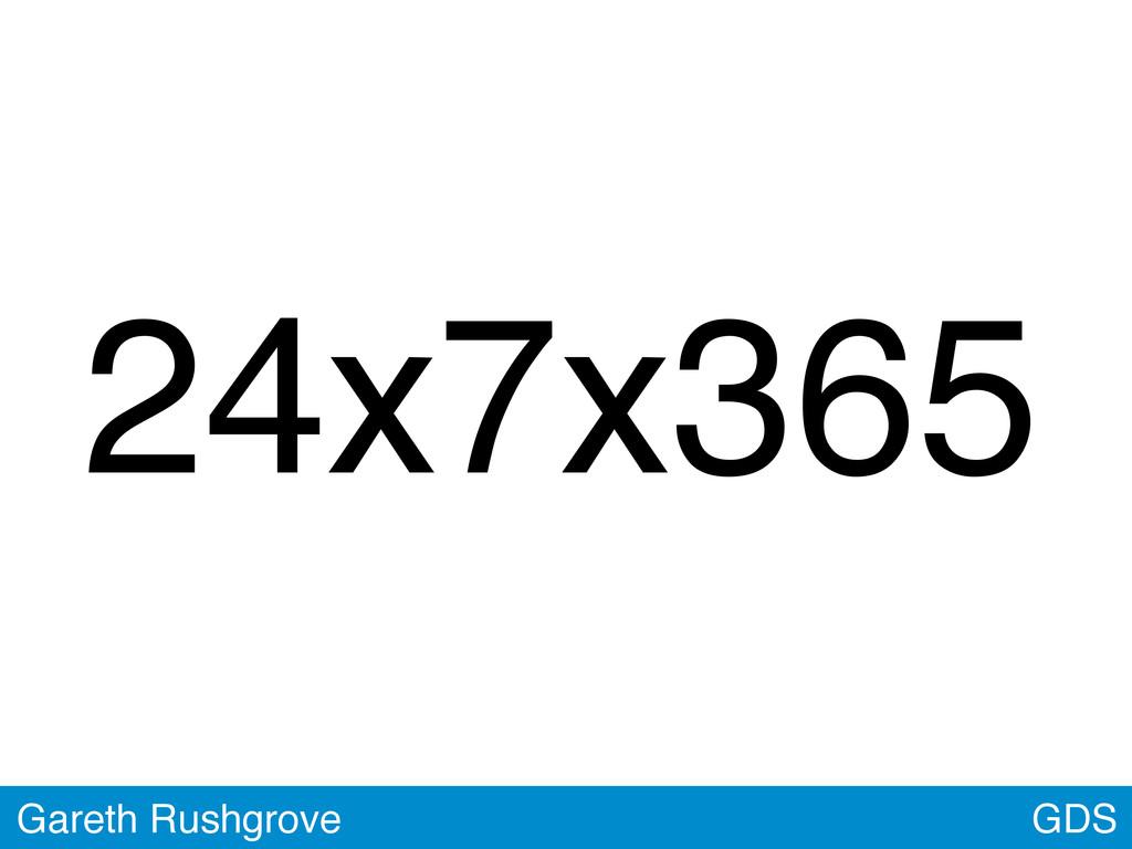 GDS Gareth Rushgrove 24x7x365