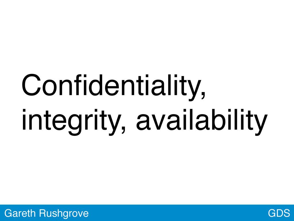 Confidentiality, integrity, availability GDS Gar...