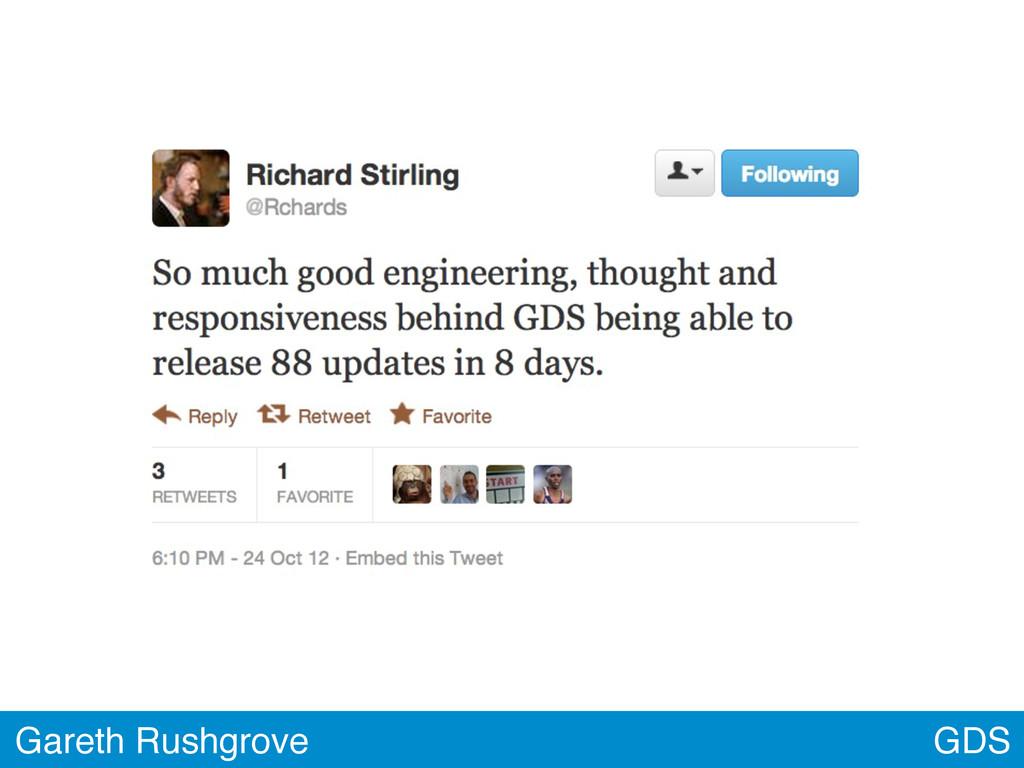 GDS Gareth Rushgrove