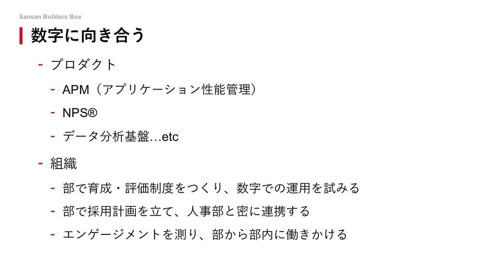 Sansan Builders Box 数字に向き合う - プロダクト - APM(アプリケー...