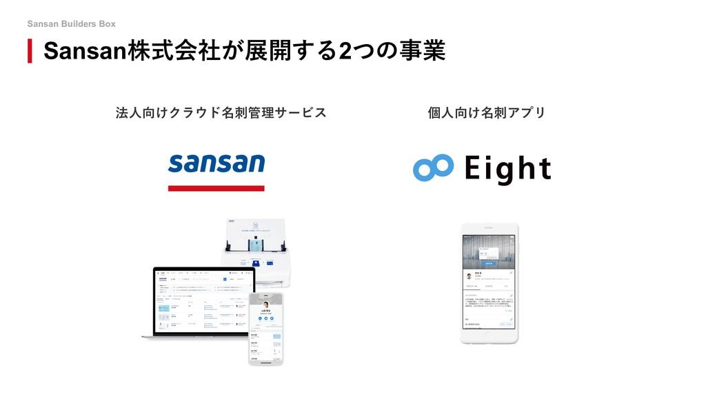 Sansan Builders Box Sansan株式会社が展開する2つの事業 法⼈向けクラ...