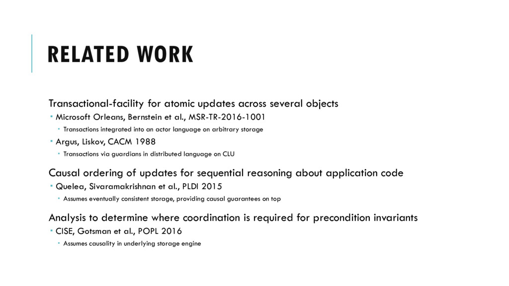 RELATED WORK Transactional-facility for atomic ...