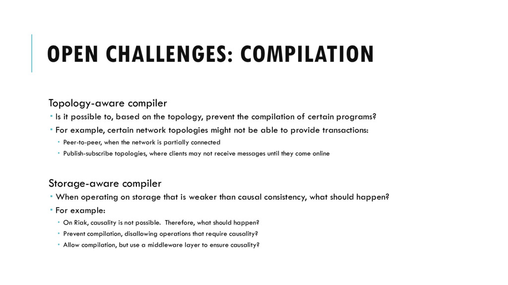 OPEN CHALLENGES: COMPILATION Topology-aware com...