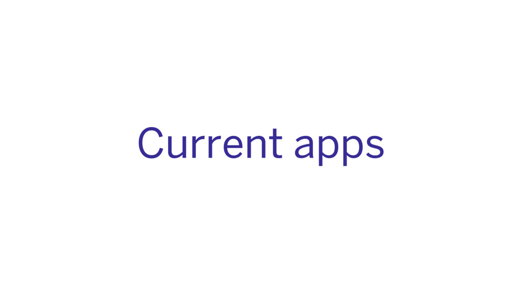 Current apps