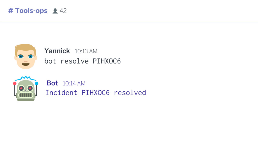 bot resolve PIHXOC6 Incident PIHXOC6 resolved #...