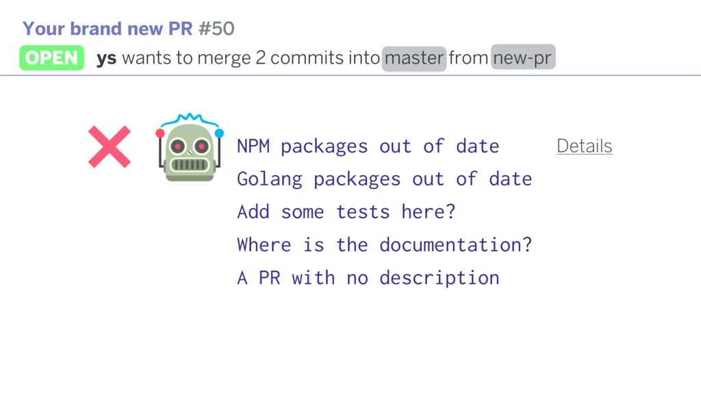 NPM packages out of date Golang packages out of...