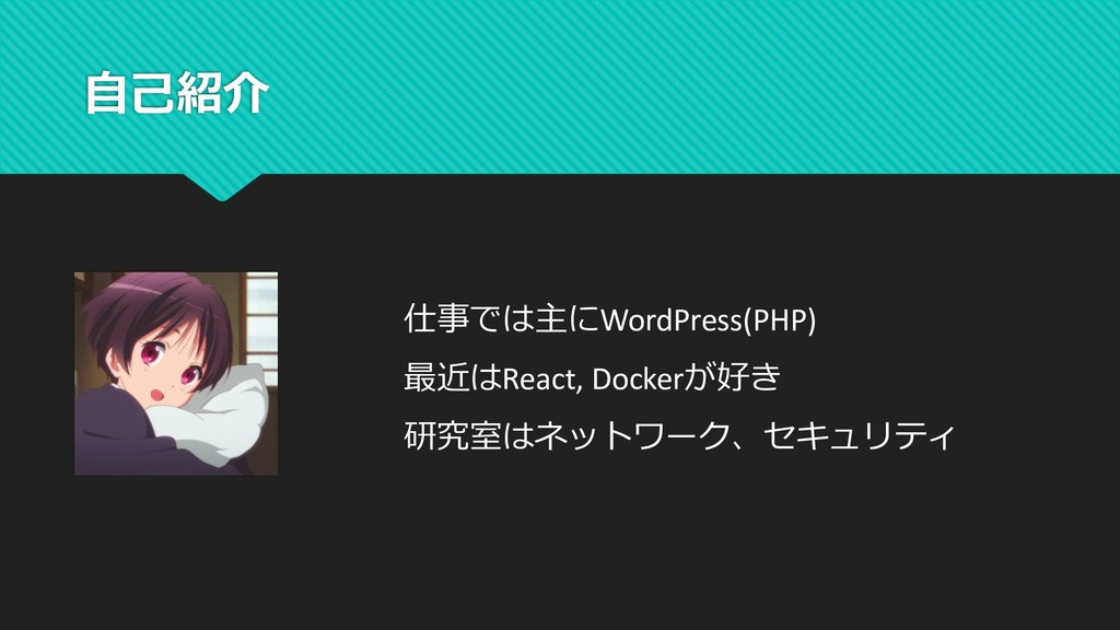 WordPress(PHP) React, Docker ...