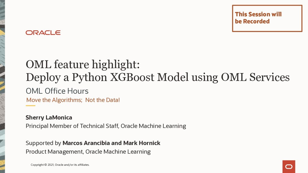 OML feature highlight: Deploy a Python XGBoost ...