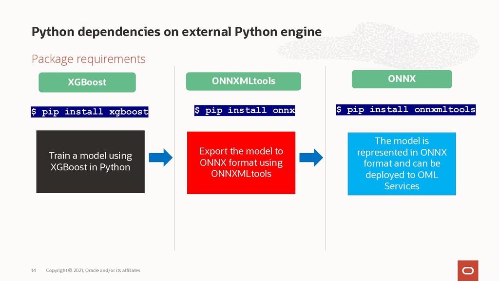 Python dependencies on external Python engine P...