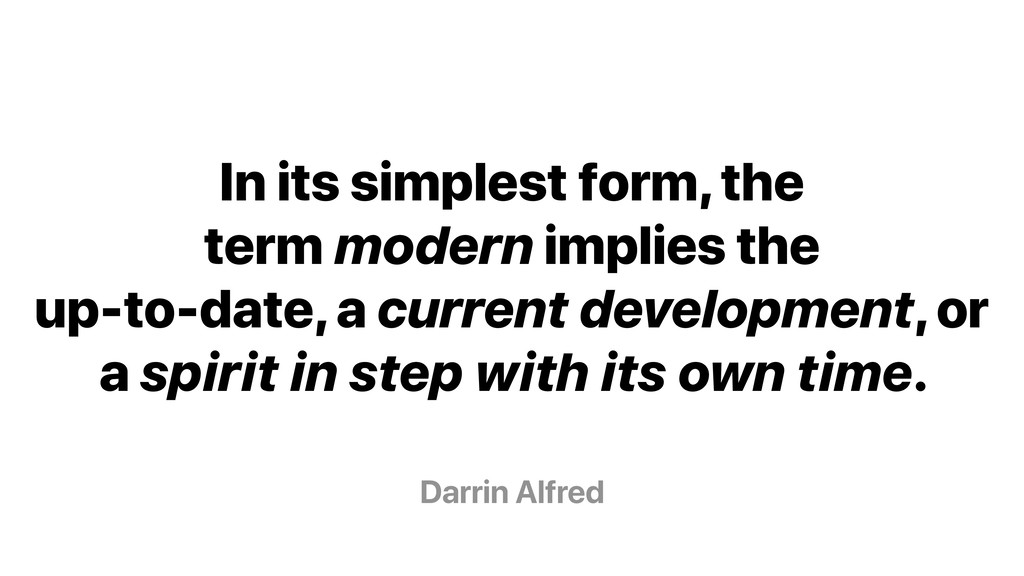 Darrin Alfred In its simplest form, the term mo...