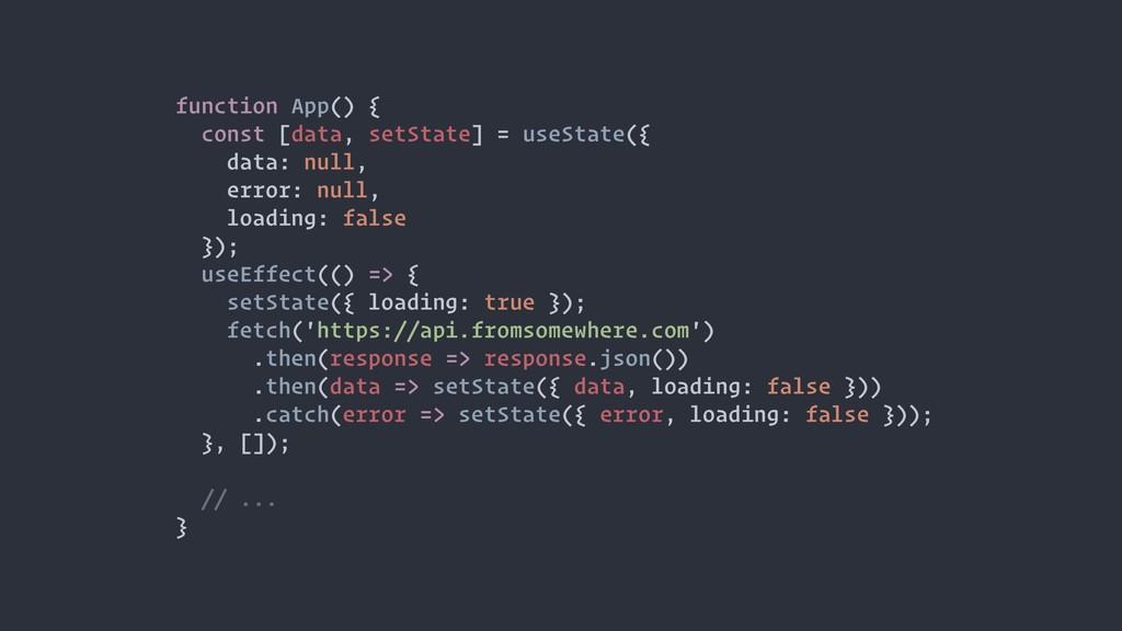 function App() { const [data, setState] = useSt...