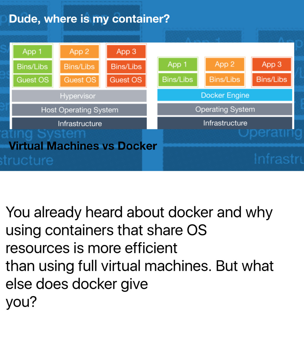 You already heard about docker and why using co...