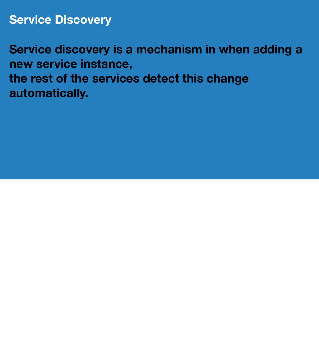 Service Discovery Service discovery is a mechan...