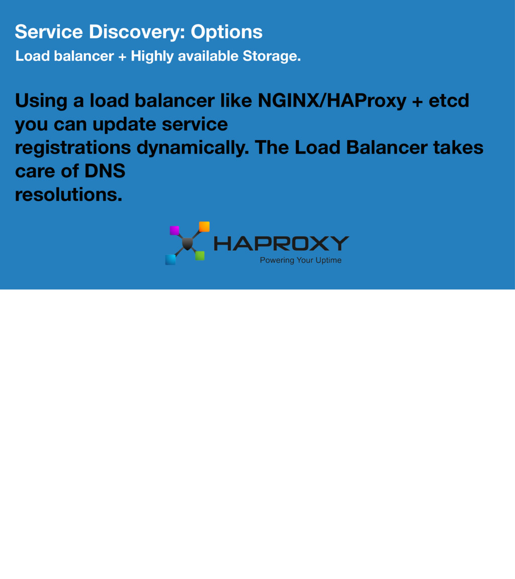 Service Discovery: Options Load balancer + High...