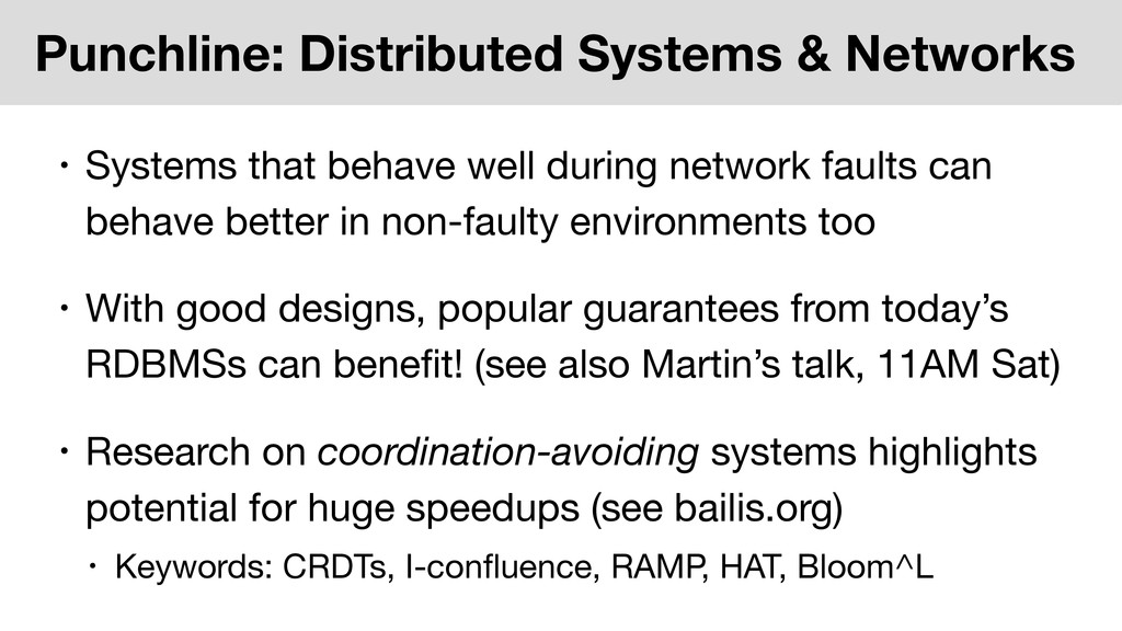 Punchline: Distributed Systems & Networks • Sys...