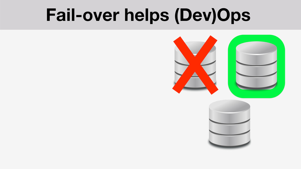 Fail-over helps (Dev)Ops