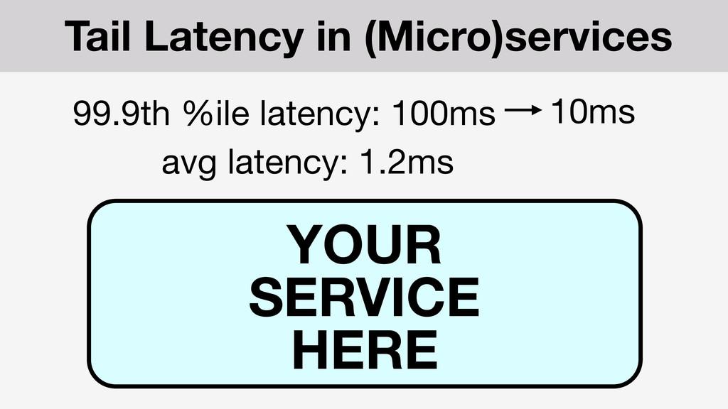 99.9th %ile latency: 100ms avg latency: 1.2ms Y...