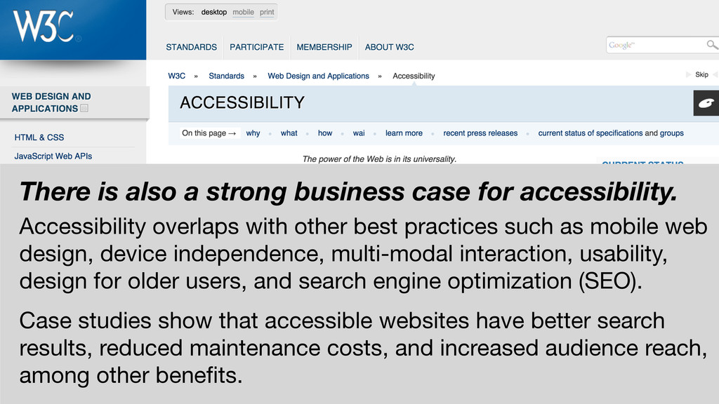 There is also a strong business case for access...