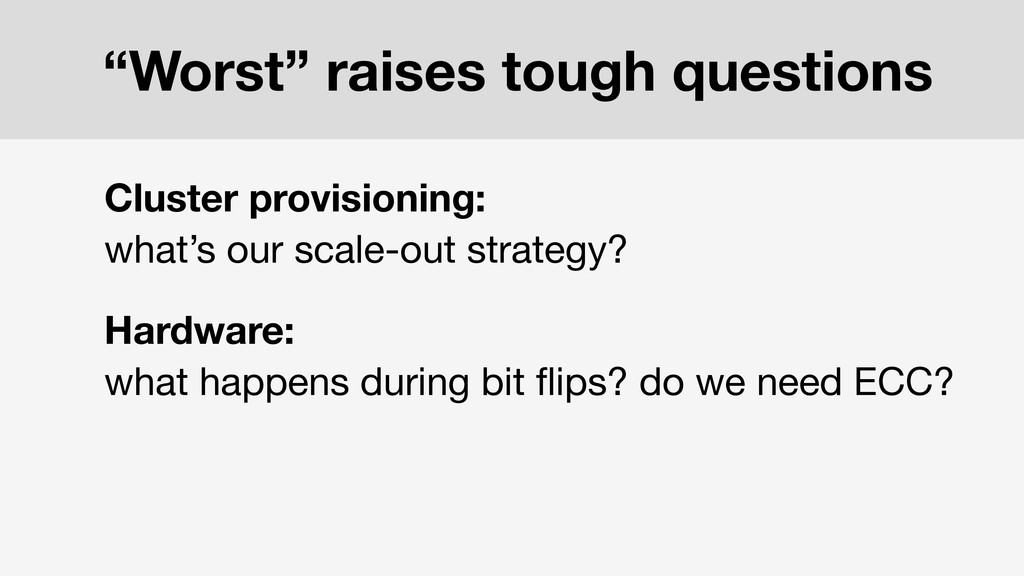 Cluster provisioning: what's our scale-out stra...