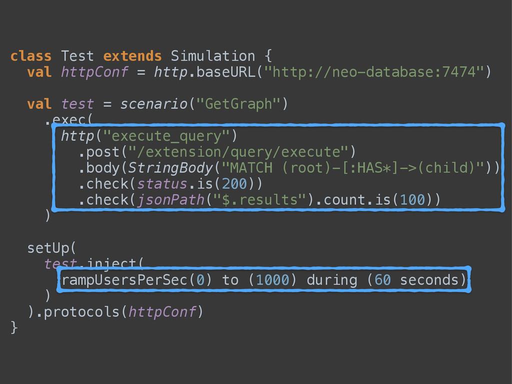 class Test extends Simulation { val httpConf =...