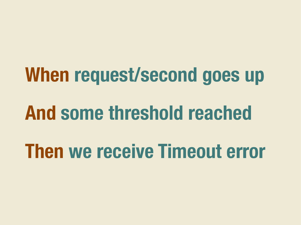 When request/second goes up And some threshold ...