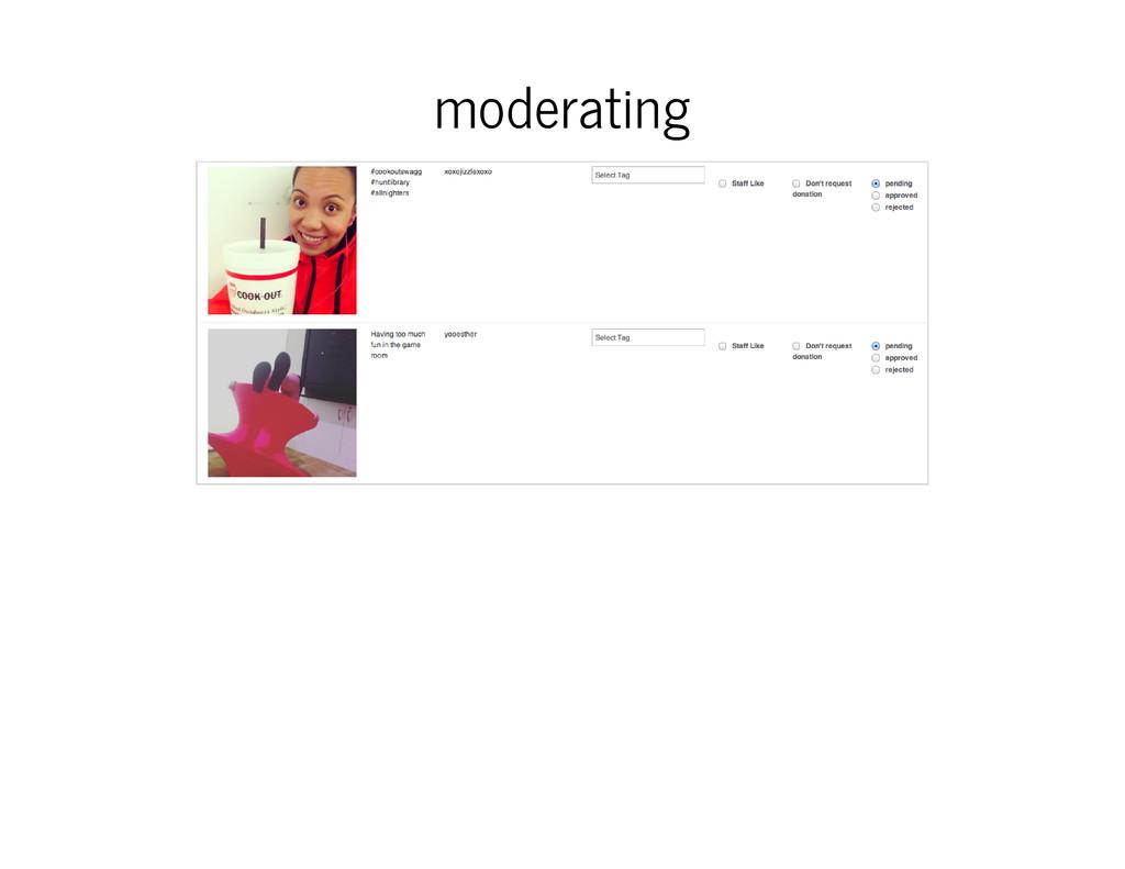 moderating