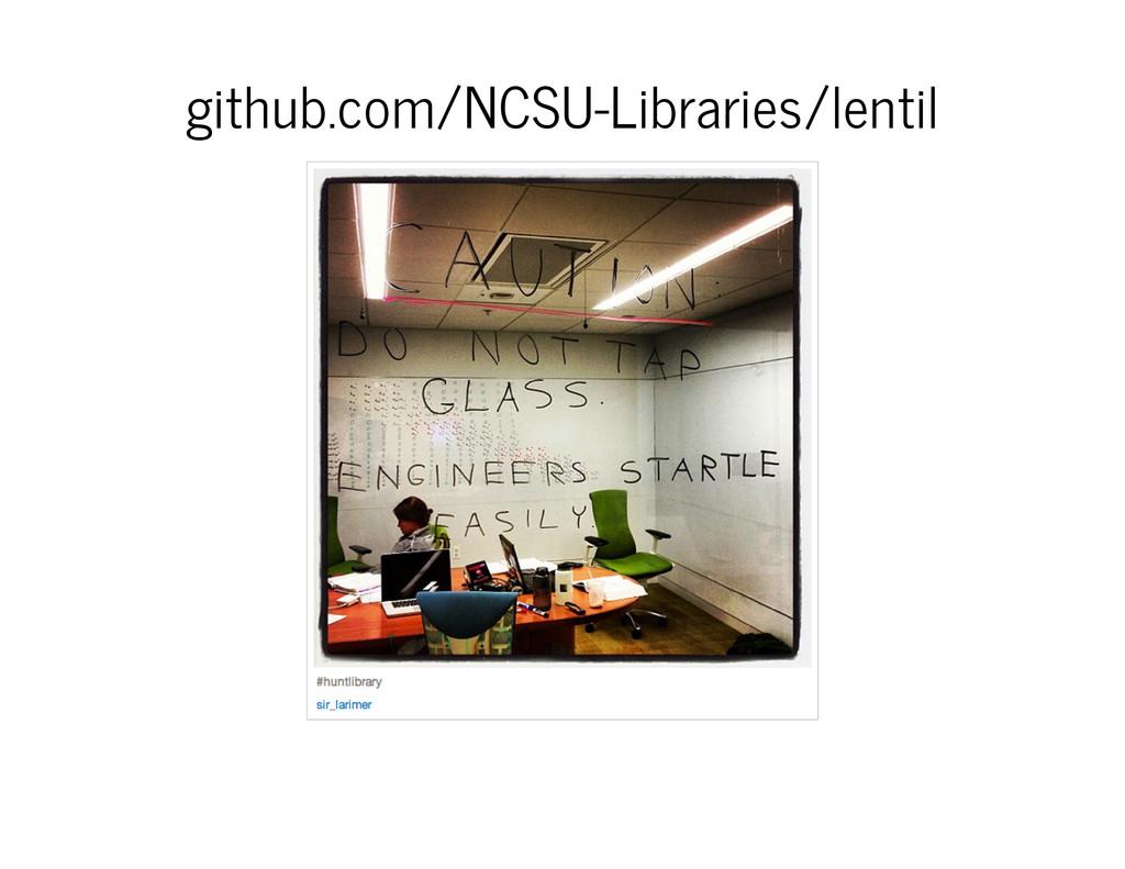 github.com/NCSU-Libraries/lentil