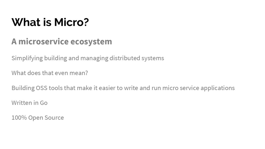 What is Micro? A microservice ecosystem Simplif...