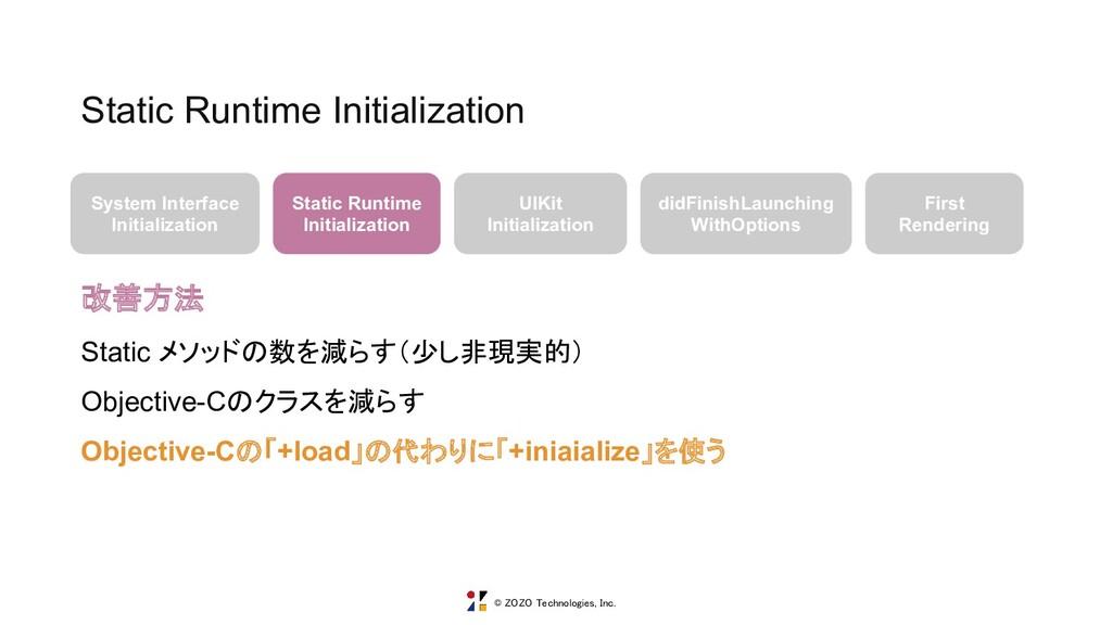 © ZOZO Technologies, Inc. Static Runtime Initia...