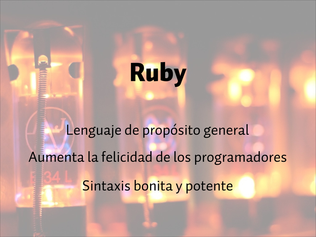 Ruby Lenguaje de propósito general Aumenta la f...