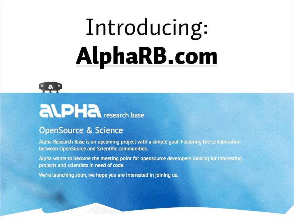 Introducing: AlphaRB.com