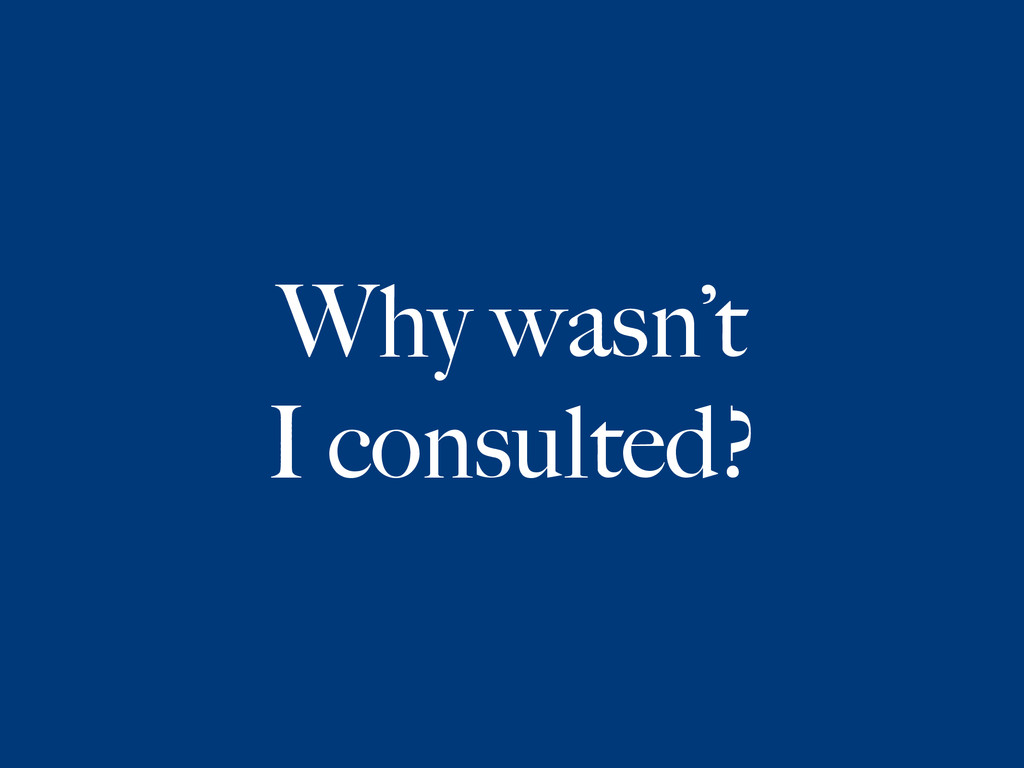 Why wasn't
