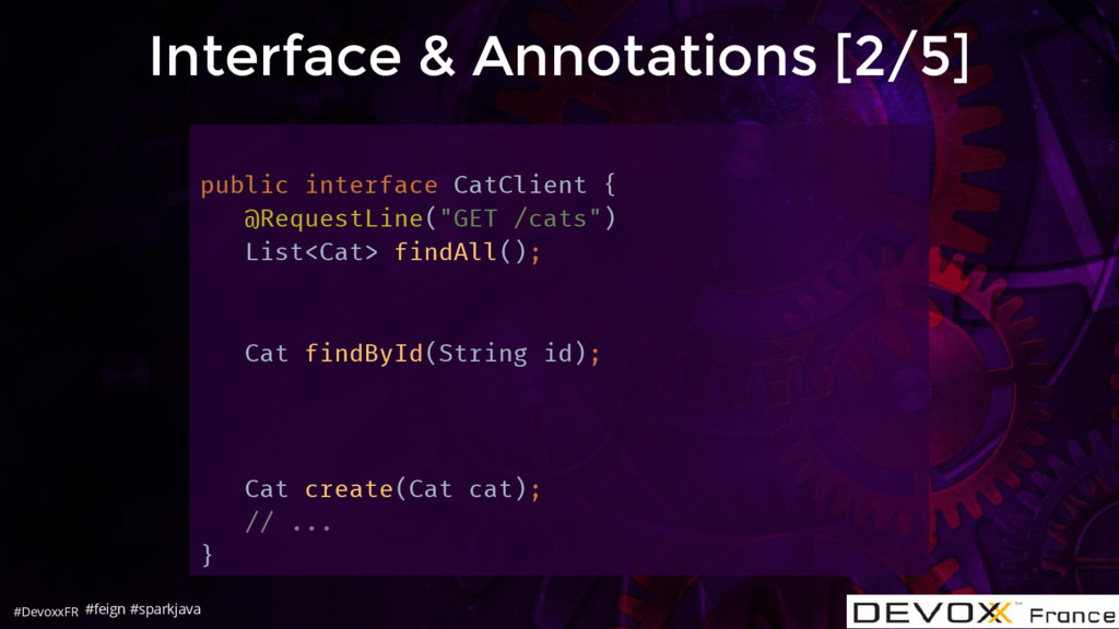 #DevoxxFR Interface & Annotations [2/5] public ...