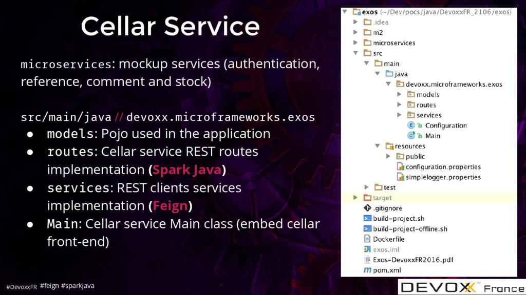 #DevoxxFR Cellar Service microservices: mockup ...
