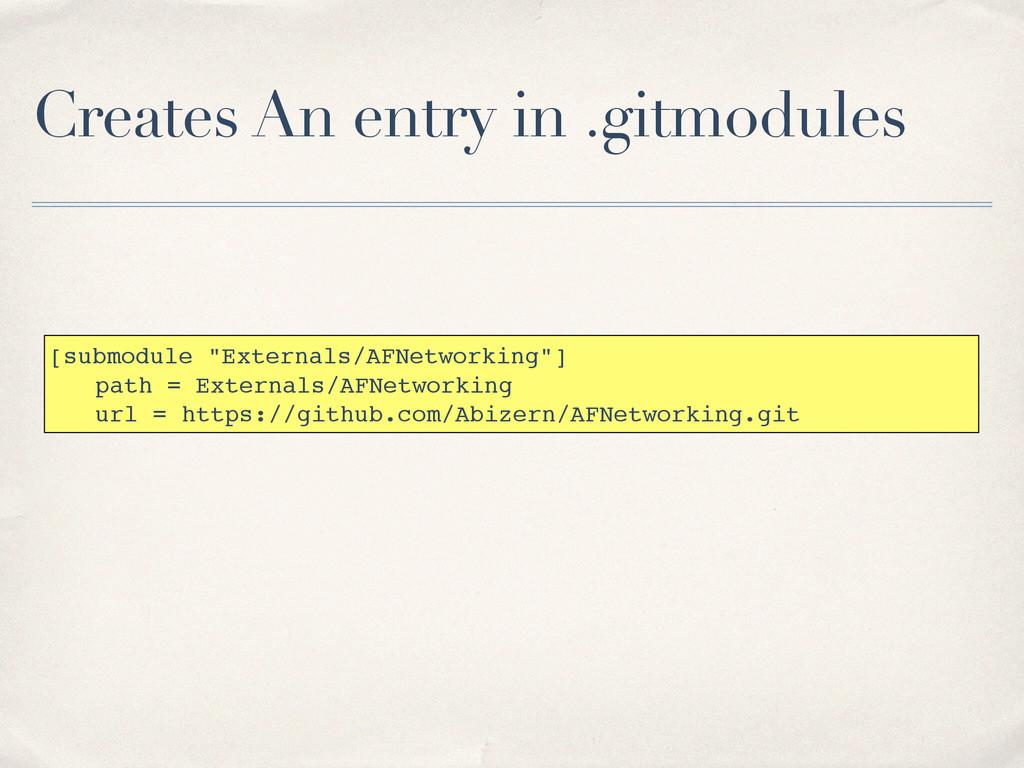 "Creates An entry in .gitmodules [submodule ""Ext..."