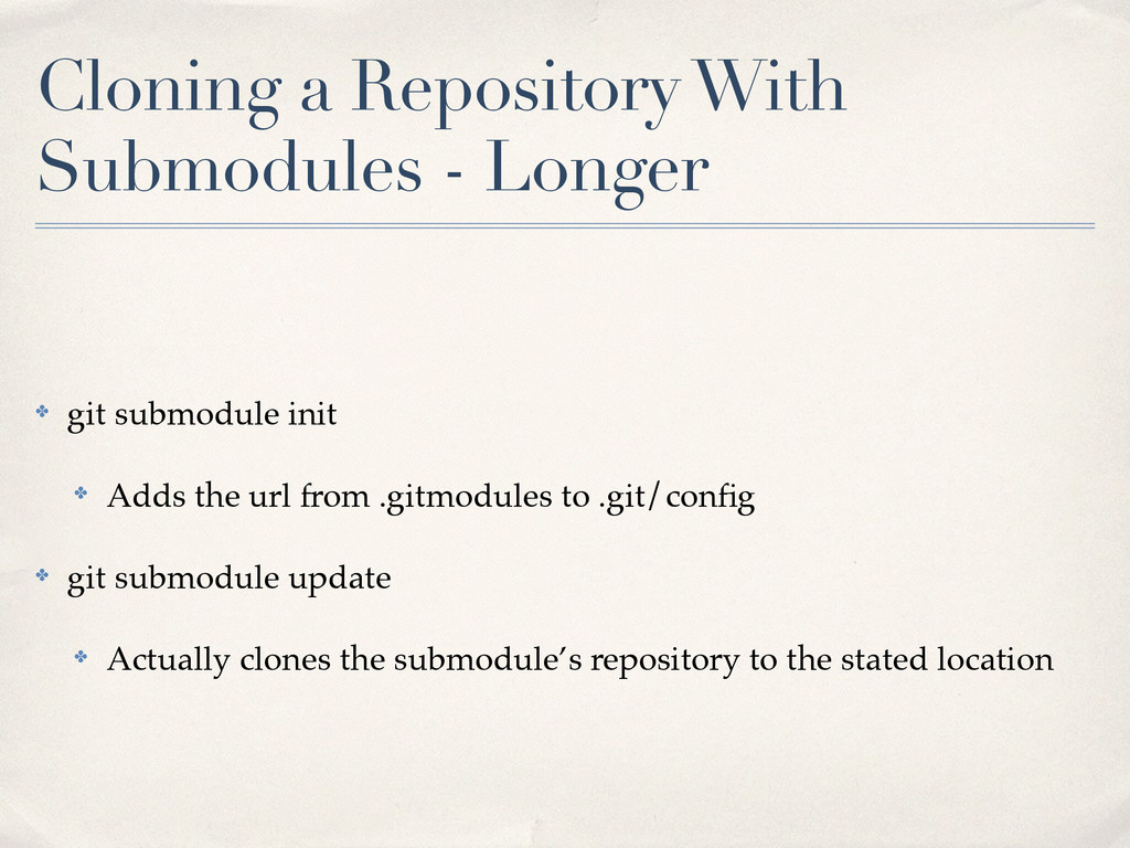 Cloning a Repository With Submodules - Longer ✤...