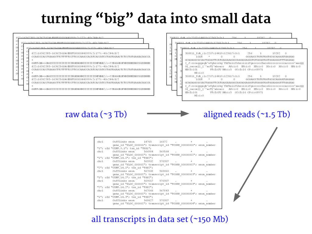 """turning """"big"""" data into small data @22:16362385..."""