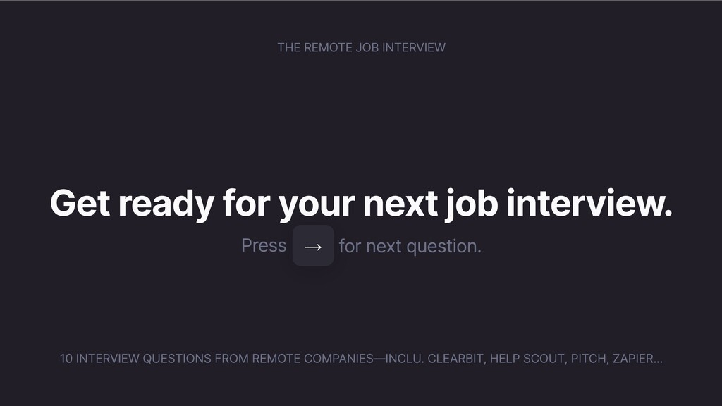 THE REMOTE JOB INTERVIEW Get ready for your nex...