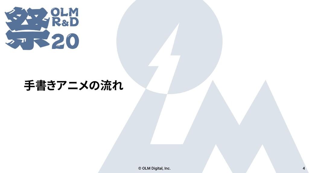 手書きアニメの流れ © OLM Digital, Inc. 4