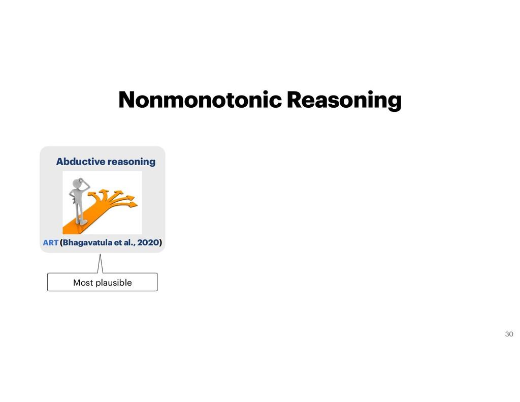 Nonmonotonic Reasoning ART (Bhagavatula et al.,...