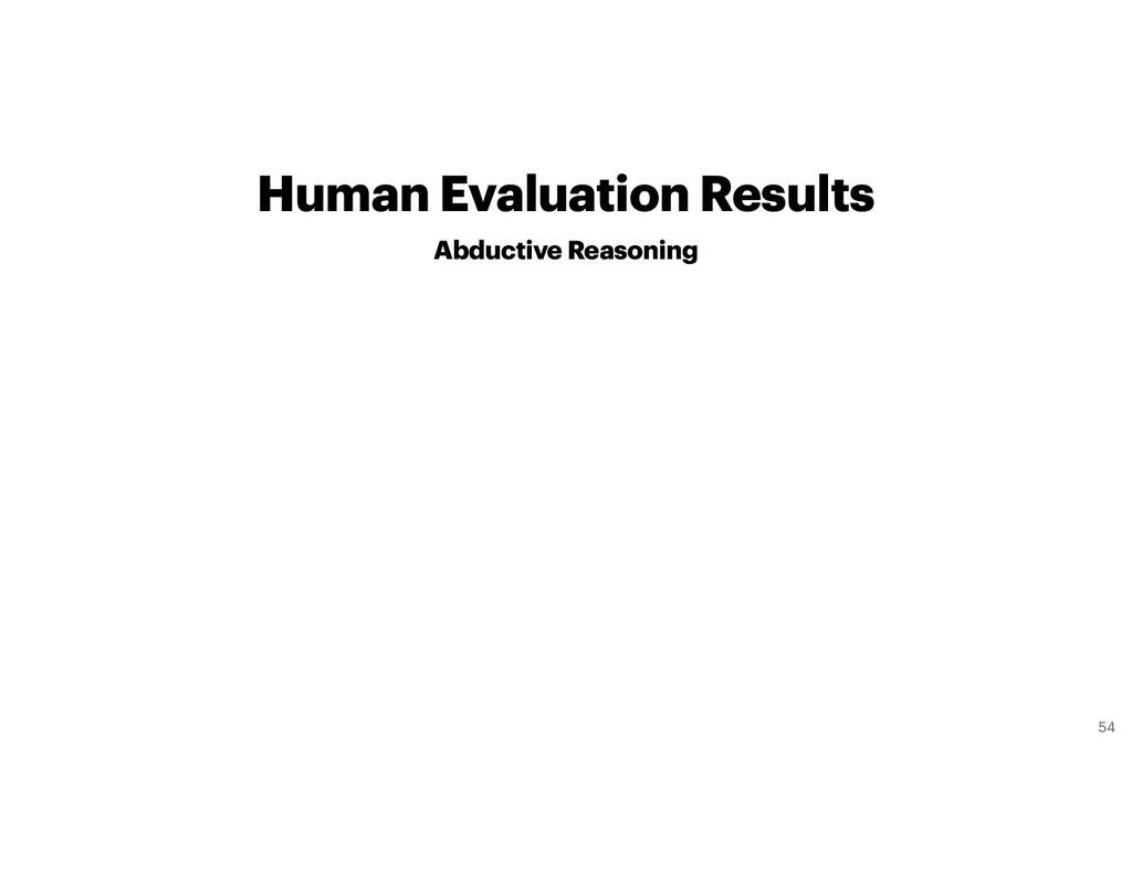 Human Evaluation Results Abductive Reasoning 54